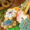 plate of decorated cookies