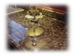shiny countertop