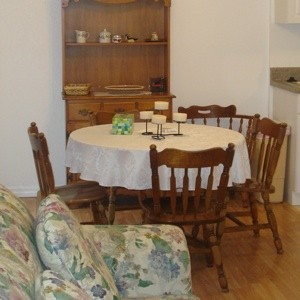 Maple dining set.