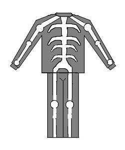 Diagram of costume.