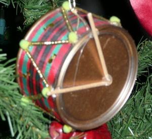 juice can drum ornament