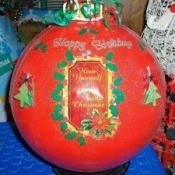Christmas Bowling Ball Ornaments