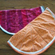 watermelon and orange slice placemats