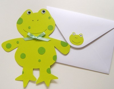 Frog shaped card and envelope