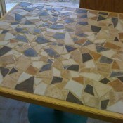 geometric design plywood table
