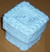 Light blue trinket box.