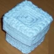 Light blue trinket box.