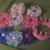 Loom and several flowers.