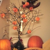 decorated tree branch