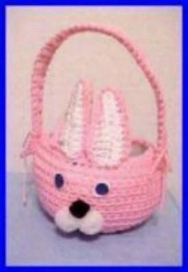 pink bunny basket