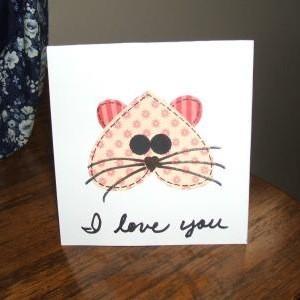 Kitty Valentine Card
