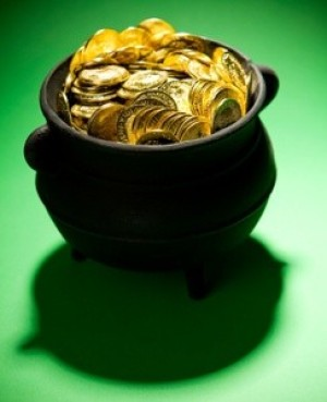 pot of candy gold coins
