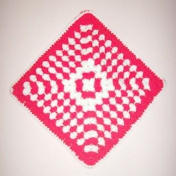 Crocheted Peppermint Hot Mat