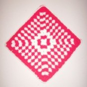Crocheted Peppermint Hot Mat