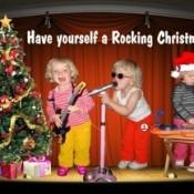 Homemade Christmas card.