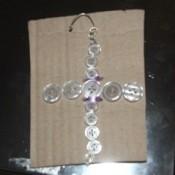 Translucent button cross.