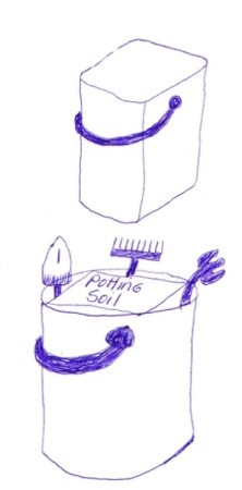 Garden Organizer Bucket Idea