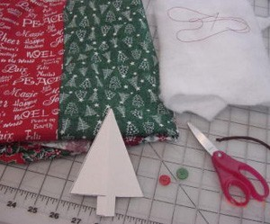 Fabric Christmas Tree Ornament