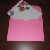 Finished card tucked inside envelope.