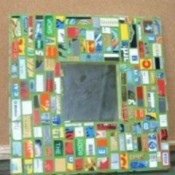 Recycled Mosaic Mirror