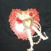 heart shaped pin