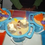 beach bucket cakes