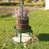 wine press planters