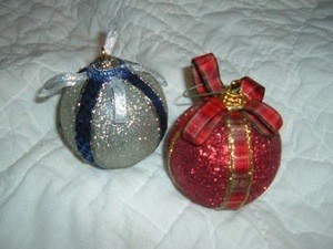 red and silver ball ornament ornaments