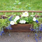 Vintage Wooden Toolbox Planter