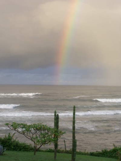 Double Rainbows over the Ocean