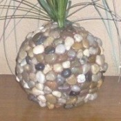 Stone and Grass Decoration