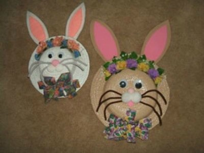 White and tan bunny hats.