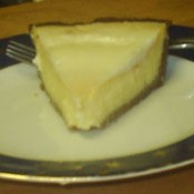 piece of cheesecake on plate