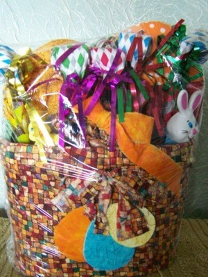Easter basket ideas thriftyfun filled easter basket negle