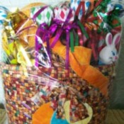 Filled Easter basket.