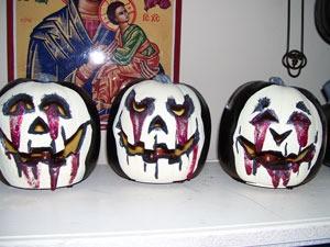 Painted Plastic Pumpkins