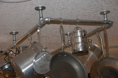 Homemade Pot Rack