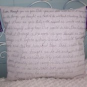 DIY Message Pillow for Father's Day