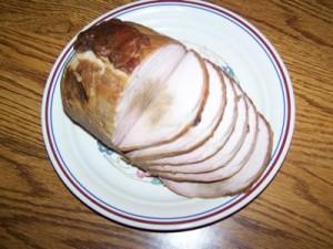 Pork Tenderloin cut on plate