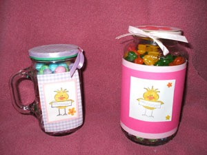 Jars of candy.