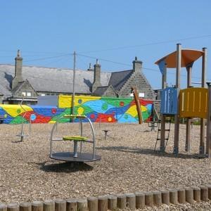 Playground mural.