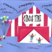 circus tent card
