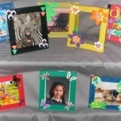 Frames made from recycled CD cases.