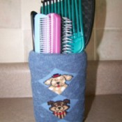 Make Container Covers from Old Socks