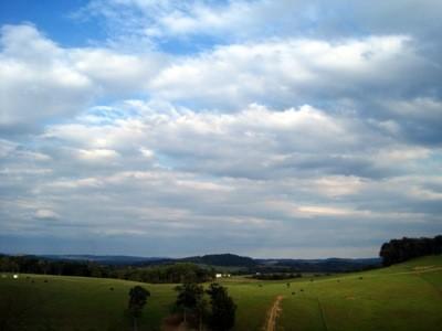 Farmland with big sky.