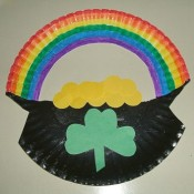 finished rainbow and pot of gold