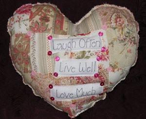 heart shaped throw pillow
