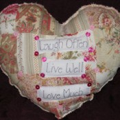 heart shaped throw pillow
