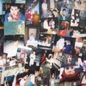 Closeup of photo wallpaper.