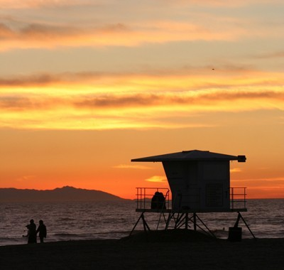 Orange and gold sunset.